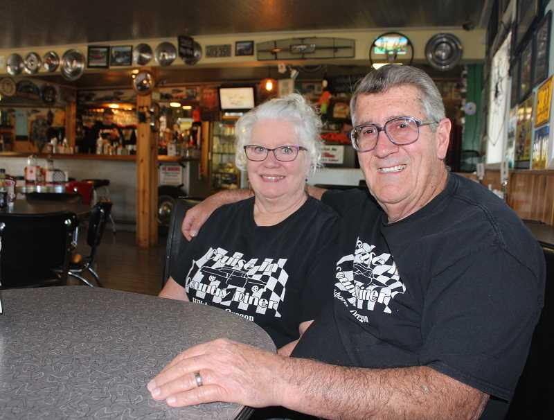STAFF PHOTO: JANAE EASLON - Nancy Newman Hummel and Terry Hummel have owned Cruise In Country Diner in Hillsboro since 2009.