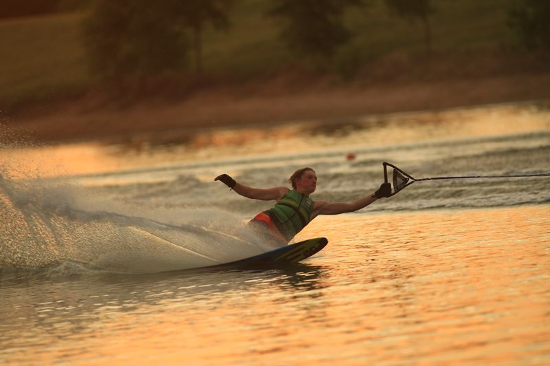 SUBMITTED PHOTO - Oak Grove resident Johnny Maitland has made some impressive turns on his water skis.