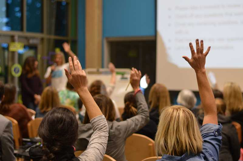 SPOKESMAN FILE PHOTO - During a WL-WV dyslexia information night last year, Sarah Lorenz, ambassador for Decoding Dyslexia Oregon, asked the audience if they have a child with dyslexia.
