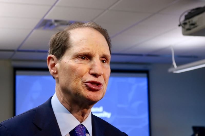 TRIBUNE PHOTO: ZANE SPARLING - U.S. Senator Ron Wyden says new policies by Education Secretary Betsy DeVos are adding 'insult to injury' to survivors of sexual assault.