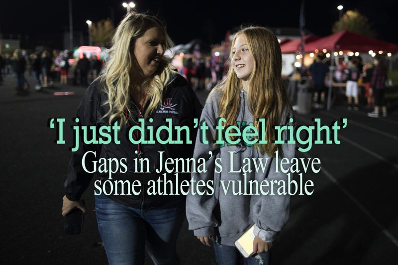 PAMPLIN MEDIA GROUP: JAIME VALDEZ - Thanks to an Oregon law extending concussion protections to non-school sports, Morgan and Brenda Brunner both knew how to respond after Morgan received a head injury. But not all sports activities are covered by the legislation.