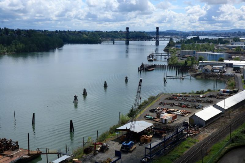 CASSANDRA PROFITA/OPB/EARTHFIX - More than a hundred parties share responsibility for cleaning up the highly polluted 10-mile stretch of the Willamette River known as the Portland Harbor Superfund Site.