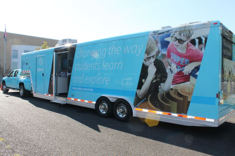 OUTLOOK PHOTO: TERESA CARSON - The zSpace mobile classroom is touring the country, giving students a virtual reality way to learn STEAM subjects.