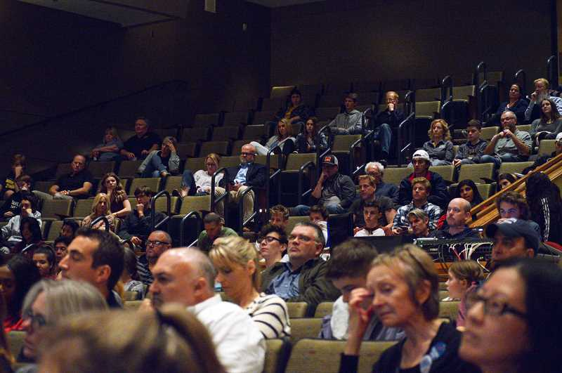 TIDINGS PHOTO: CLARA HOWELL - About 200 community members showed up Oct. 17 at the candidate forum at WLHS.