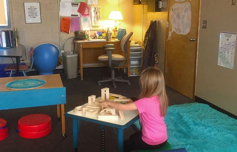 Redland Elementary's rest and return room gives students a quiet place to collect themselves and learn to manage strong emotions through movement, focused activities and tactile experiences in a low-stimulus environment.