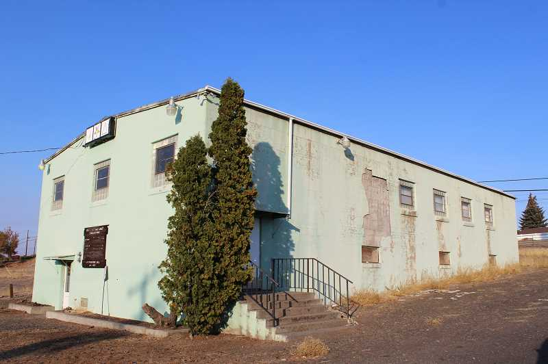 HOLLY GILL/MADRAS PIONEER - Outside walls have been crumbling at the Madras Masonic Lodge.