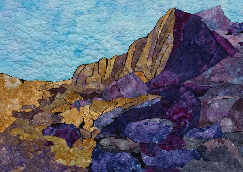 SUBMITTED PHOTO - Marjorie Post is exhibiting Threads on the Edge, a collection of her art quilts, at the Lakewood Center Gallery through Nov. 11.
