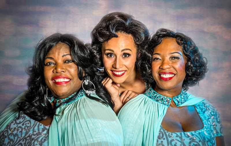 SUBMITTED PHOTO: PAUL FARADIG - Dreamgirls, starring Julianne Johnson (left) as Effie Melody White, Shahayla Ononalye as Deena Jones and Kristin Robinson as Lorrell Robinson, is running through Nov. 4 at Portland5 Center for the Arts in downtown Portland.