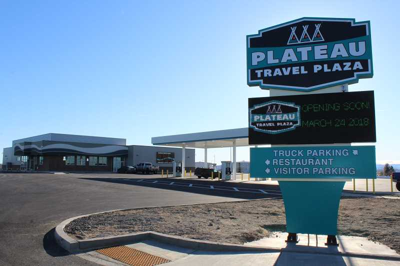 HOLLY M. GILL/MADRAS PIONEER - The Plateau Travel Plaza, owned by the Confederated Tribes of Warm Springs, opened in March.