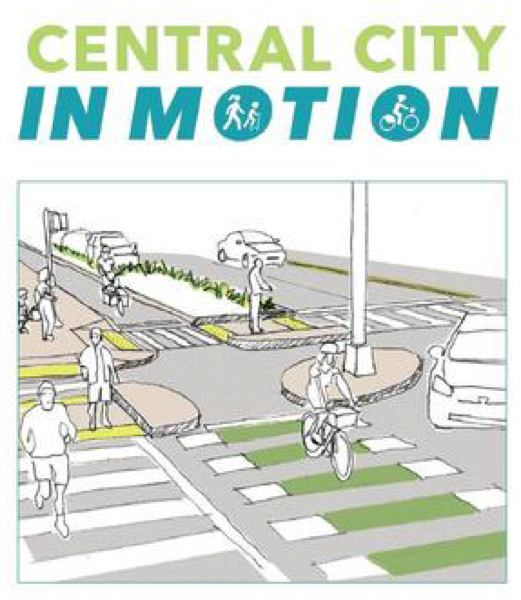 COURTESY PBOT - The logo for the Central City in Motion project.