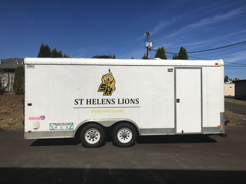 PHOTO COURTESY OF KRISTINA SAUL - The recently revamped St. Helens High School band trailer.