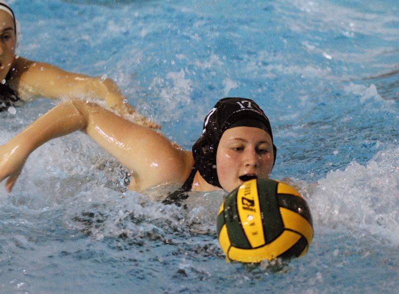 GRESHAM OUTLOOK: MATT RAWLINGS - Reynolds senior Sarah Fulton swims after a loose ball in the Raiders 11-7 win over Hood River Valley.