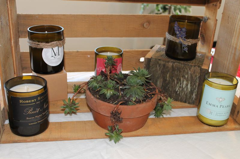 OUTLOOK PHOTO: ANNE ENDICOTT - Coconut oil and soy wax are the basis for handmade candles by Michelles Creations. Succulent gardens are planted in recycled planters and dont miss Michelles bath bombs, made with Himalayan sea salt and lavender.