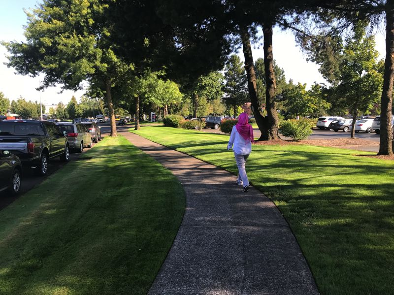 CONTRIBUTED PHOTO: ADVENTIST HEALTH PORTLAND - A trek around the new 1-mile fitness trail can boost health for walkers.