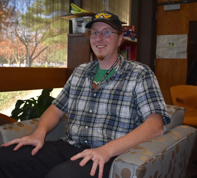 OUTLOOK PHOTO: TERESA CARSON - Red Burkett, who received a scholarship from the Mt. Hood Community College Foundation, is looking forward to getting a good job with his degree in information systems and technology management.
