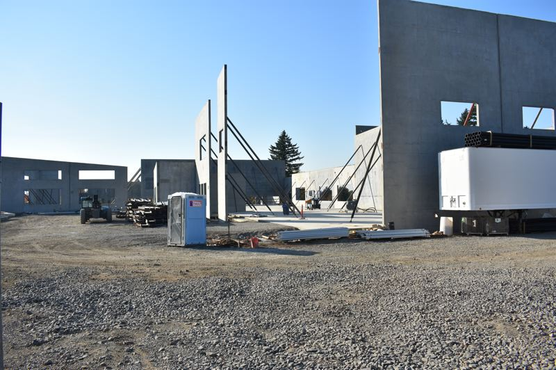 OUTLOOK PHOTO: TERESA CARSON - The big concrete walls at North Gresham Elementary School were tipped up in early October.