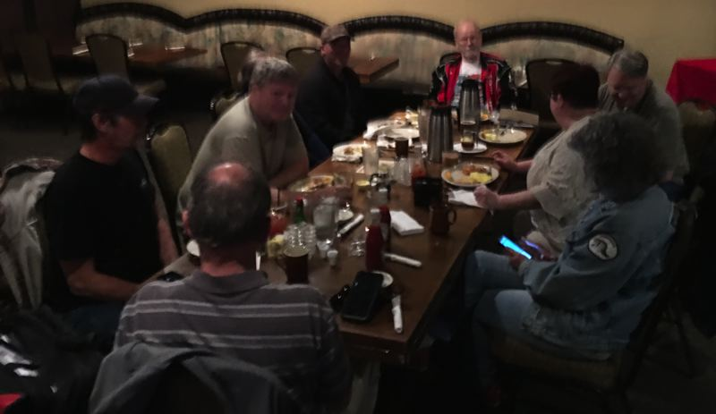 PHOTO: PUBLIC DOMAIN, CITY OF GLADSTONE - Greg Alexander took this photo of the group meeting Oct. 13 in High Rocks Restaurant & Lounge, which was submitted as part of a police report requested by a recalled city councilor.