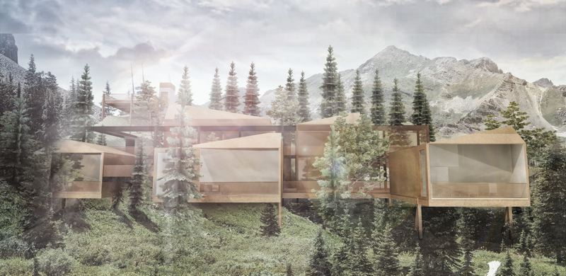 RENDERING: OPEN STUDIO COLLECTIVE - A rendering of a concept house called the Walsh Residence, designed to show off The Wild software.