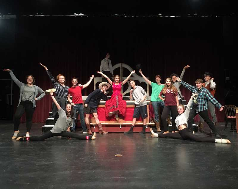 COURTESY PHOTO - The cast is rehearsing for upcoming showings of their new musical 'Curtains.'