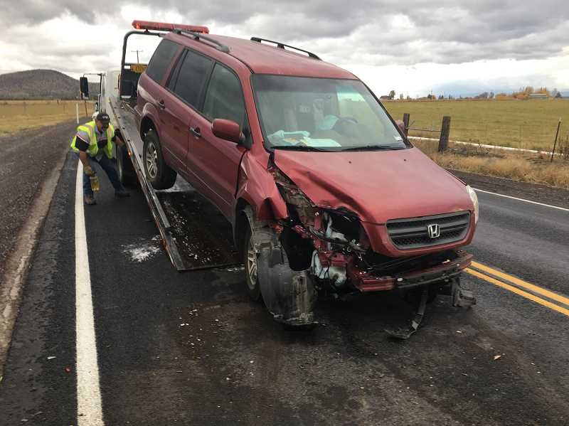 CROOK COUNTY SHERIFF'S OFFICE - Laura Brown crashed her vehicle into a stopped vehicle on Powell Butte Highway Friday afternoon.