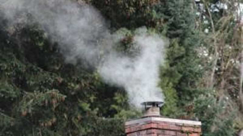 PHOTO BY MULTNOMAH CO. HEALTH DEPT. - New restrictions on burning wood on bad air days are now in effect ion SW Portland.