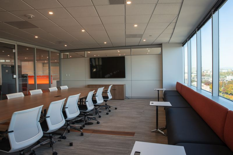 COURTESY: STANTEC - Large video screens allow employees to use technology to communicate with clients and projects to help the company meet the fast pace of projects.