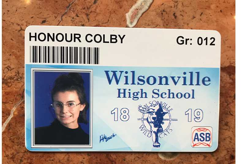 SUBMITTED PHOTO - Honour Colby dresses like Steve Jobs for her school picture.