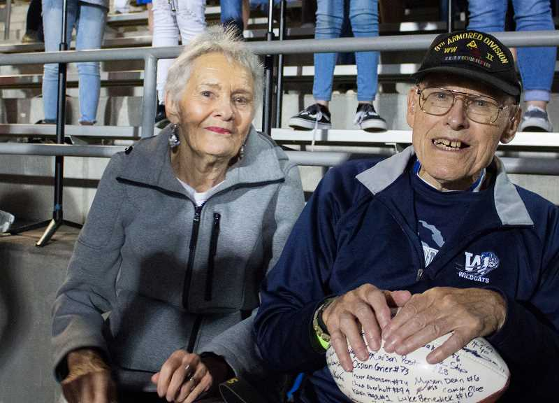 PHOTO CURTESY OF TREYTON HAGEN - Frank Walsh was supported by his girlfriend, Rosemary Acker, during his time playing with the WHS pep band.