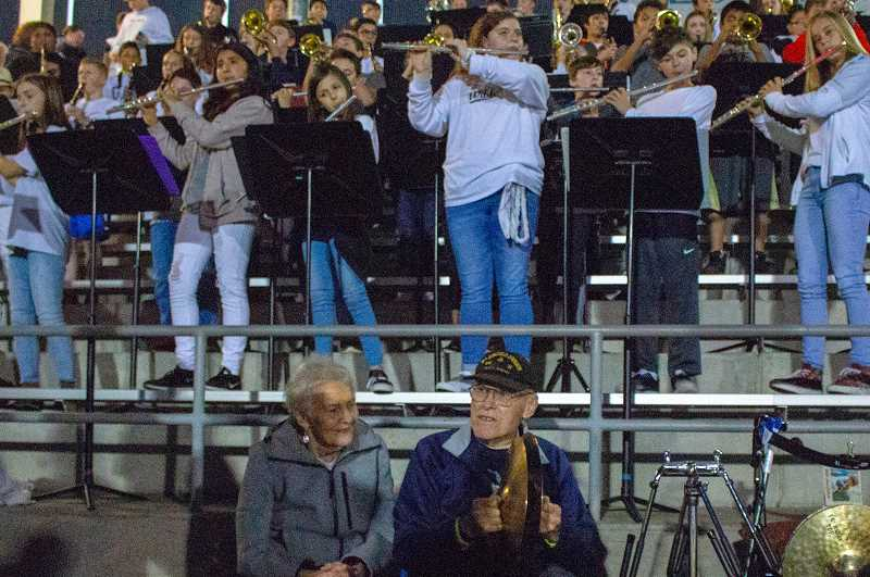 PHOTO CURTESY OF TREYTON HAGEN - Frank Walsh has wanted to play the cymbals since he saw a powerful musical scene use the instrument in a film 62 years ago.