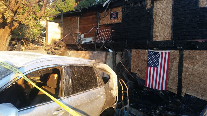 PHOTO BY: RAYMOND RENDLEMAN - Nancy and Terry Gibson's house on Jennings Avenue was destroyed by an Oct. 17 fire.