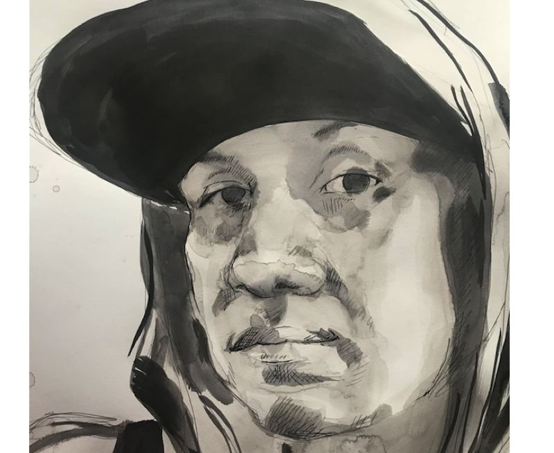 PHOTO COURTESY: CCC - 'Girl With Hat' is a pen-and-ink portrait by Pippa Arend on display at Clackamas Community College.