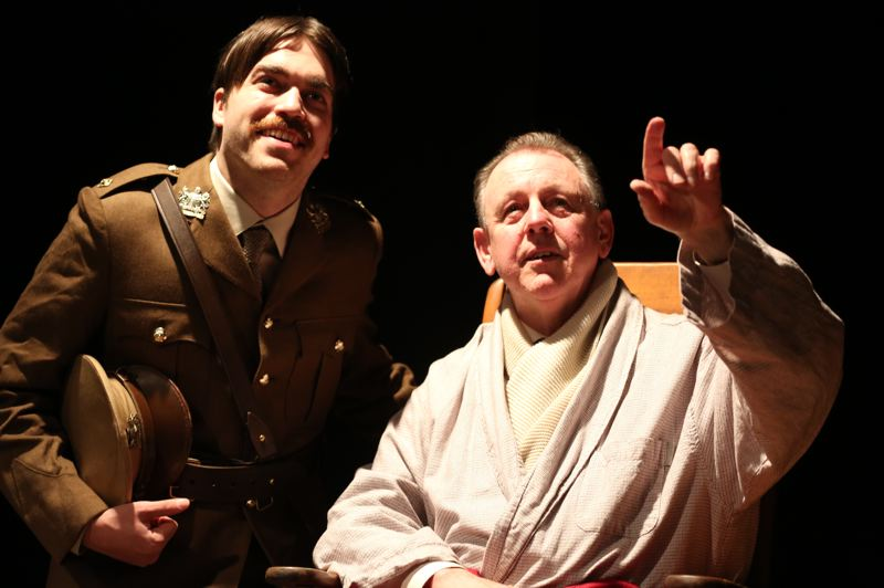 PHOTO BY DAVID BLISS - Kevin Yell and Dustin Fuentes portray famous British World War I poets in the play.