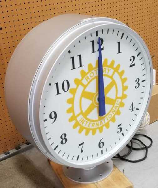 COURTESY OF SUENN HO - The 3-foot-tall Rotary Plaza clock arrived in Portland last summer, manufactured in Massachusetts.