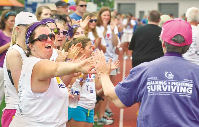 GRAPHIC FILE PHOTO - The joint Relay for Life event of Newberg and McMinnville will be held June 22 at Patten Middle School in McMinnville. Before that, there will be at 5K race/walk Thanksgiving Day to draw attention to the annual event in June.
