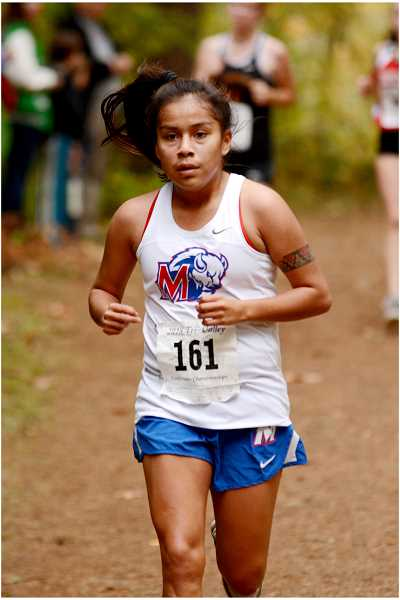 DAVID BALL - Vanessa Culps places second in TVC cross country district race, becoming the first MHS female runner to make state since 1988.