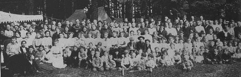COURTESY PHOTO: HOODVIEW CHURCH OF GOD - The Church of God congregation didn't have a chapel until 1917, instead having camp meetings.