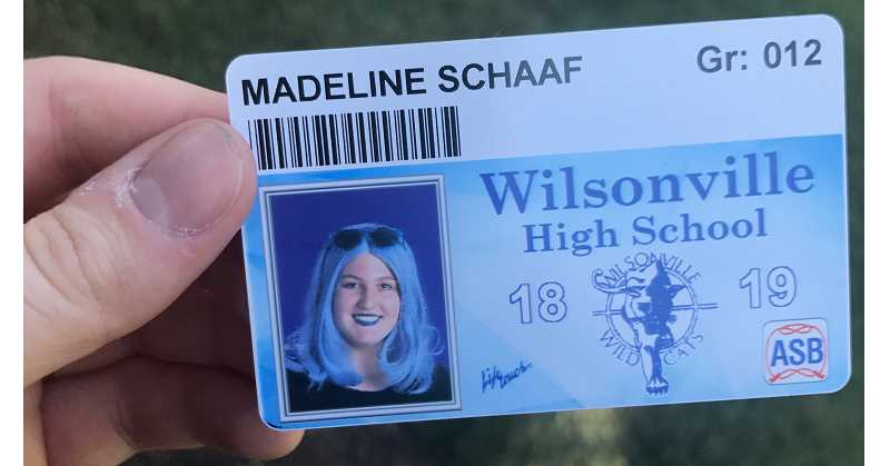 SUBMITTED PHOTO - Madeline Schaaf sports school colors in her school picture.