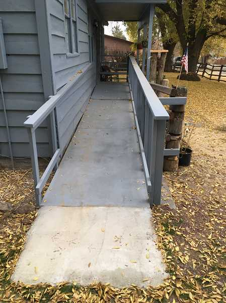 SUBMITTED PHOTO - The completed ramp.