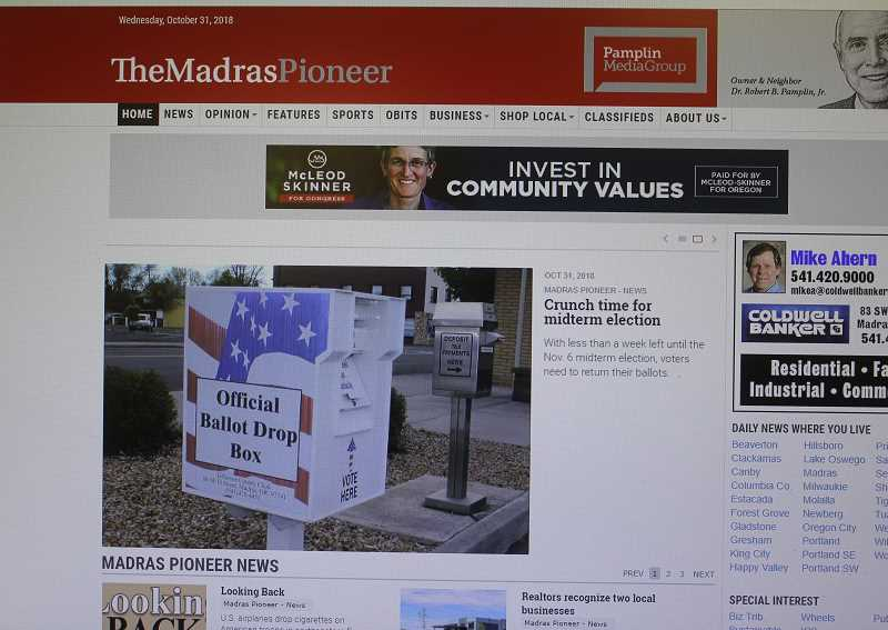MADRAS PIONEER PHOTO - The Madras Pioneer's website will soon be metered, allowing three free visits per month for those who don't subscribe, but unlimited access to subscribers.