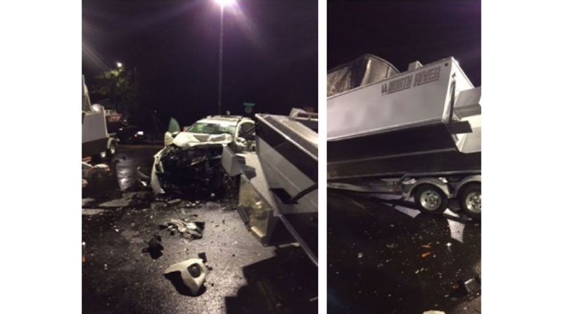PHOTOS COURTESY: CCSO - Matthew Jay Kenneth Folsom allegedly crashed through a fence in Gladstone and caused about $150,000 in damage to a boat dealership.