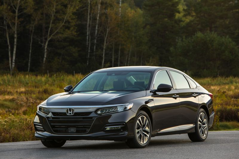 HONDA NORTH AMERICA - The completely redesigned 2019 Honda Accord Hybrid can be ordered as a relatively inexpensive family car or dress up as a luxury midsize sedan.
