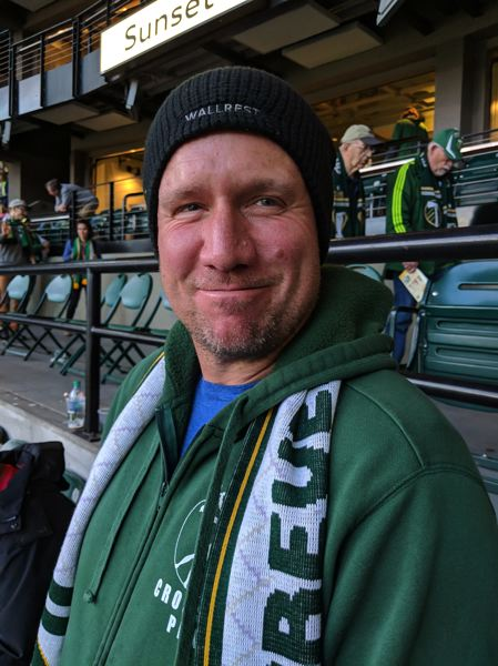 PAMPLIN MEDIA GROUP: JOSEPH GALLIVAN - Jeff Fletcher a Timbers fan there with his son, was satisfied with the entertainment and the result. '(Diego) Chara's the best player on our team.'