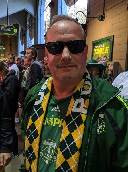 PAMPLIN MEDIA GROUP: JOSEPH GALLIVAN - At half time Timbers fan Chris Marko said 'I think Timbers are going to close it out.""