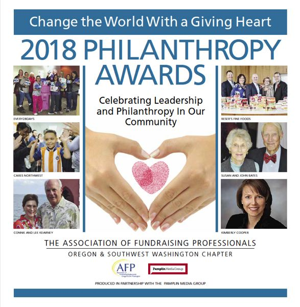 (Image is Clickable Link) Read about all the AFP 2018 Philanthropy Award honorees in the Pamplin Media Group's special section.