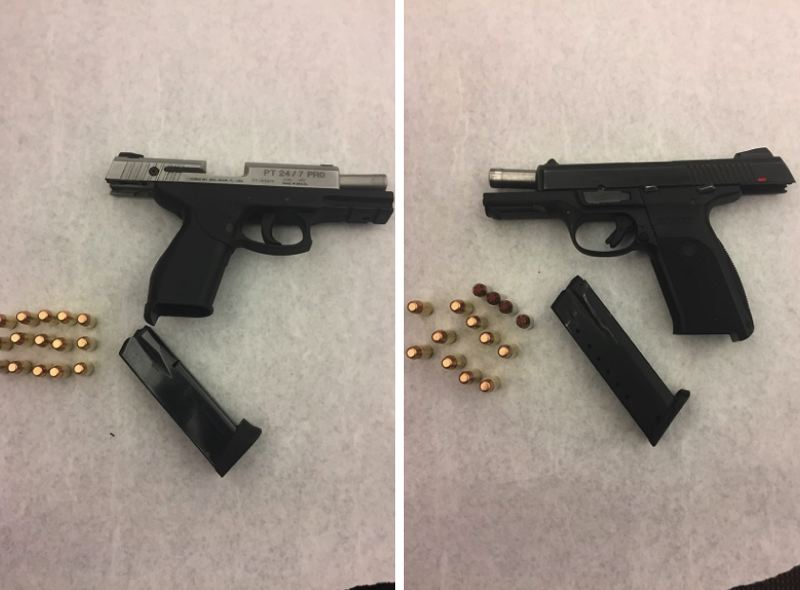 PPB PHOTOS - Portland Police say these two loaded firearms were seized at a home on Kerby Avenue where Odell Adams was staying.