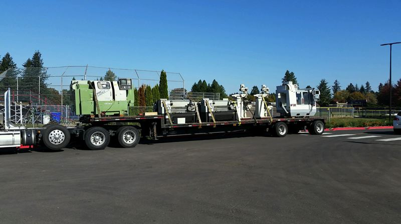 Equipment for engineering students in North Clackamas arrives courtesy of Clackamas Community College.
