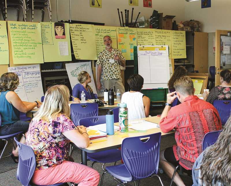 CENTRAL OREGONIAN - Crook County School District teachers participate in a week-long course on storyline education taught by Jeff Creswell. The course was funded by a 2018 Facebook Community Action grant.