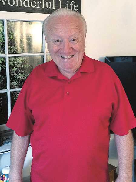 HERALD PHOTO: CAROL ROSEN - Jovial, happy Harvey Brown is in Florida volunteering to help with the Red Cross for victims of Hurricane Michael.