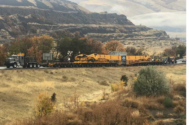 PHOTO COURTESY OF PACIFIC POWER  - The load makes its way along I-84.