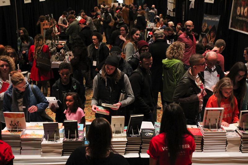 COURTESY PHOTO - People gather at the Portland Book Festival at Portland Art Museum and other nearby venues, where scores of authors participate in discussions and meet with fans.